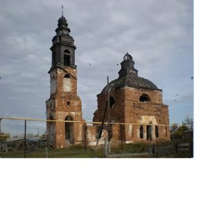 Падеринская церковь Вознесения Господня после